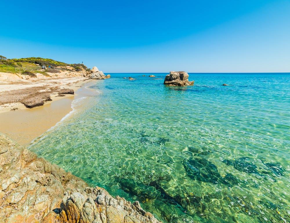 Spiaggia di Santa Giusta in Sardegna